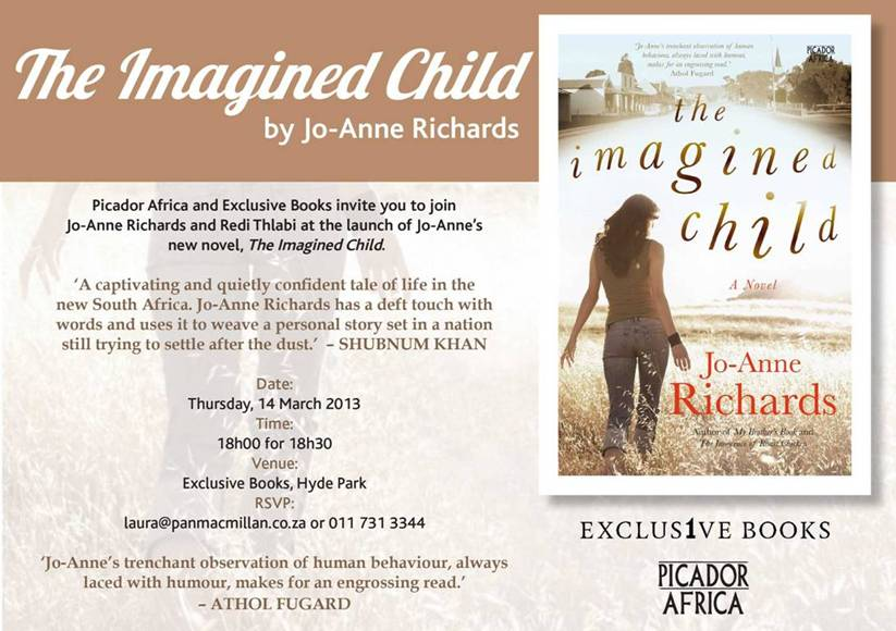 Book launch invitation to The Imagined Child