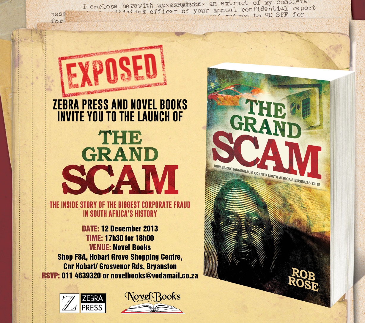 The Grand Scam - Book Launch at Novel Books