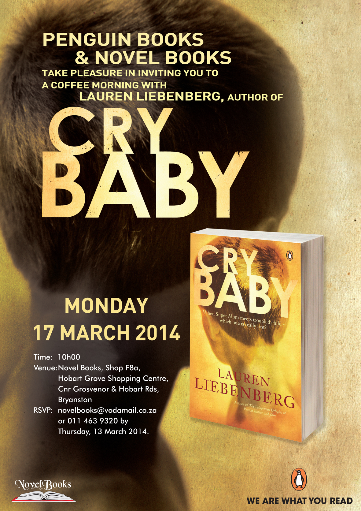 Lauren Liebenberg's book launch for Cry Baby