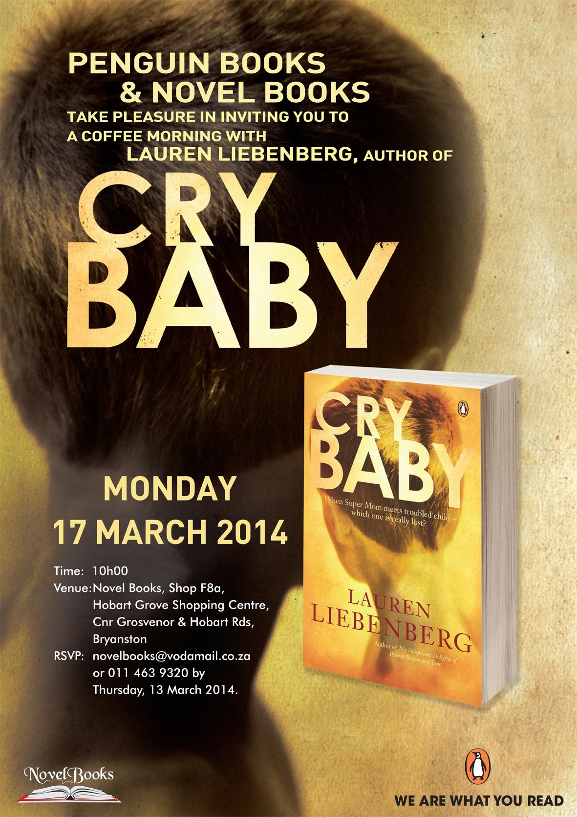 Lauren Liebenberg's book launch for Cry Baby